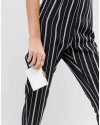 French Connection - White Square Clasp Wallet - Lyst