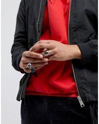 Bershka | Metallic Signet Rings In 3 Pack for Men | Lyst