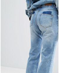 Liquor N Poker - Blue Wide Leg Jean In Rigid Denim - Lyst