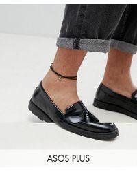 ASOS - Black Plus Anklet 2 Pack With Burnished Gold Arrow for Men - Lyst
