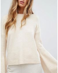 Micha Lounge - Natural Wide Sleeve Jumper - Lyst