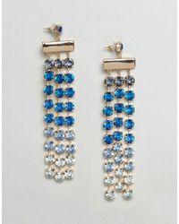 ASOS - Blue Statement Ombre Jewel Drop Earrings - Lyst