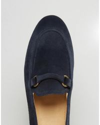 H by Hudson - Blue Renzo Suede Loafers for Men - Lyst
