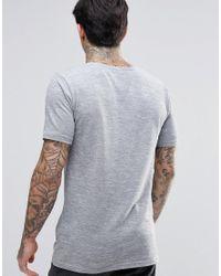 Minimum Gray Slub Pocket T-shirt for men
