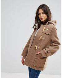 Gloverall - Natural Mid Mony Wool Blend Duffle Coat - Lyst