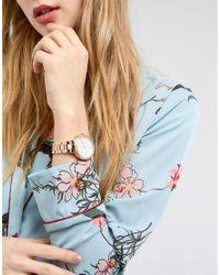 Fossil - Metallic Q Ftw5010 Virginia Bracelet Hybrid Smart Watch In Rose Gold 36mm - Lyst