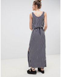 Blend She - Blue Honey Stripe Midi Dress - Lyst