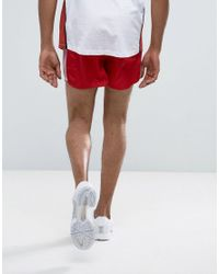 ASOS - Slim Shorter Runner Shorts In Red for Men - Lyst