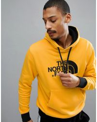 The North Face Drew Peak Pullover Hoodie In Yellow for men