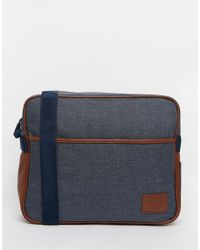 Original Penguin | Blue Cross Hatch Bag for Men | Lyst