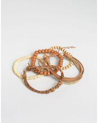 ASOS - Beaded Bracelet Pack In Brown for Men - Lyst