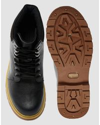 D-Struct - Black Boots With Chunky Sole for Men - Lyst