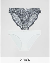 Marie Meili - Gray Roxy 2 Pack Brief - Lyst