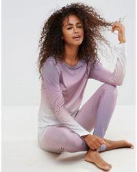 ASOS - Multicolor Rainbow Dip Dye Long Sleeve Tee & Legging Pyjama Set - Lyst