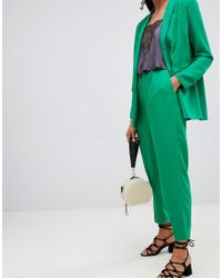 SELECTED - Green Femme Double Breasted Cigarette Pant - Lyst