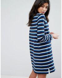 YMC - Blue Breton Stripe Long Sleeved Jersey Dress - Lyst