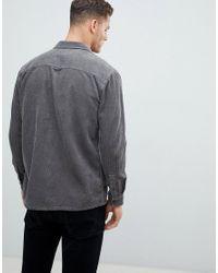 Lyle & Scott - Gray Buttondown Jumbo Cord Overshirt In Grey for Men - Lyst