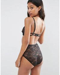 ASOS - Black Hi-apex Lace Risky Business Body - Lyst