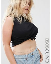 ASOS | Metallic Fine Stick Belly Chain | Lyst