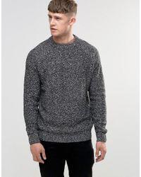 Bellfield   Gray Reverse Textured Knit for Men   Lyst