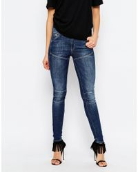 G-Star RAW | Blue Elwood 5620 Ultra High Super Skinny Jeans | Lyst