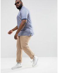 Tommy Hilfiger - Plus Boris Polo Slim Fit Flag Logo In Blue for Men - Lyst