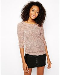 Vero Moda | Black Fluffy Jumper | Lyst