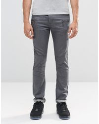 Loyalty & Faith - Gray Zip Pocket Skinny Jean Grey Wash for Men - Lyst