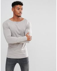 ASOS - Gray Extreme Muscle Fit Long Sleeve T-shirt With Crew Neck for Men - Lyst