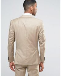 SELECTED - Natural Suit Jacket In Sand for Men - Lyst