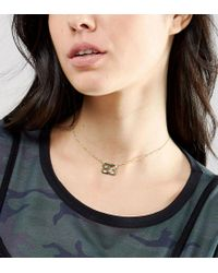 ASOS - Metallic Gold Plated Sterling Silver 83 Choker Necklace - Lyst