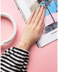Dogeared | Metallic Gold Plated 'm' Love Letter Bracelet | Lyst