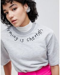 ASOS - Metallic Statement Waterfall Irrisdecent Bead Ear Climbers - Lyst