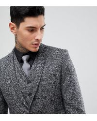 Heart & Dagger - Gray Veste de costume slim tisse en Angleterre for Men - Lyst