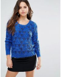 Louche - Blue Arif Fluffy Knit Jumper - Lyst