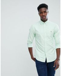 06cc0026bca5 Polo Ralph Lauren. Men s Slim Fit Button Down Collar Oxford Shirt ...