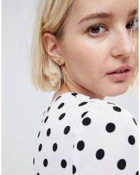 ASOS - Metallic Hand Stud Earrings - Lyst