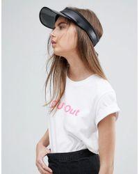 Lyst - ASOS Clear Brim Visor Hat In Black in Black 8d8272e3962