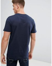 Jack & Jones Blue Jack And Jones Retro Logo T-shirt for men