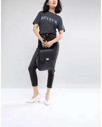 Pieces - Black Easy Backpack - Lyst