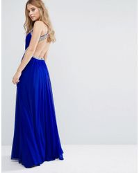 Forever Unique - Blue Maxi Dress With Embellishment - Lyst