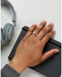 Icon Brand - Metallic Engraved Band Ring In Silver - Lyst