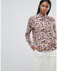 Y.A.S - Multicolor Poppy Printed High Neck Blouse - Lyst