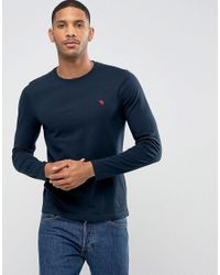 da829bdf Lyst - Abercrombie & Fitch Long Sleeve Top Muscle Slim Fit Moose ...
