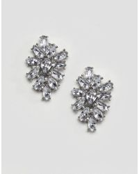 ASOS - Metallic Occasion Jewel Cluster Earrings - Lyst