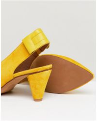 Hudson - London Dorothea Yellow Suede Sling Back Shoes - Lyst