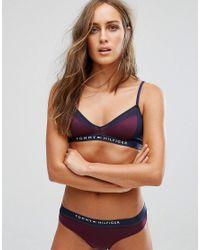 c5629d4693 Tommy Hilfiger Sheer Flex Micro Fashion Triangle Bra in Purple - Lyst