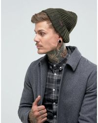 d750014eab629 Barbour Langley Beanie In Olive in Green for Men - Lyst