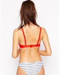 Wolf & Whistle - Red Super Push Up Bikini Top Size D-g - Lyst