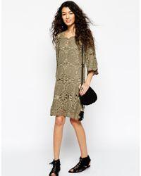 ASOS - Natural Hand Crochet Tunic Dress - Lyst